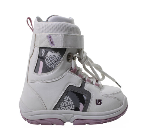 Burton Freestyle Girls USED Snowboard Boots Size 5 White