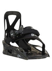 Burton Grom Snowboard Bindings Black White- Kids, Youth 1-3.