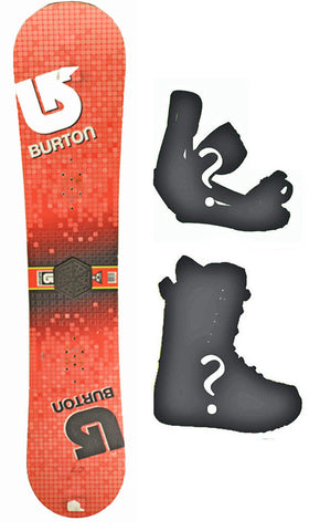 140cm Burton LTR Grid Red Used Snowboard, or Build a Package with Boots and Bindings
