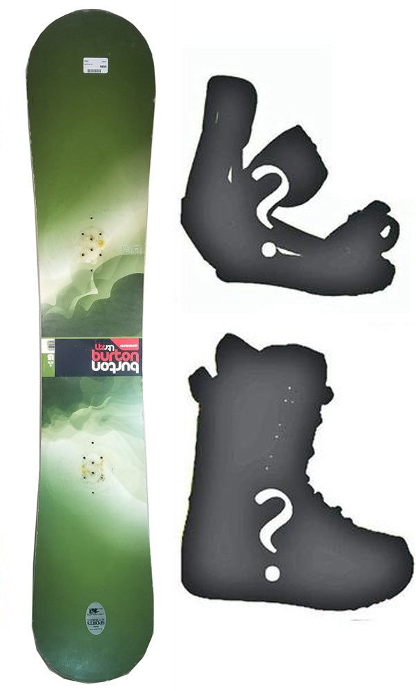 160cm Wide Burton Progression LTR Clouds Used Snowboard or Build a Package With Boots and Bindings.