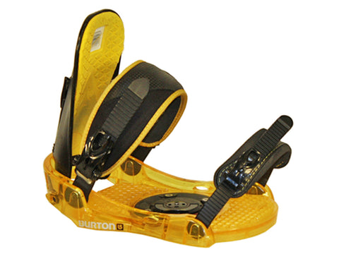 Burton Progression New *Blemished* Snowboard Bindings M/L, Black-Yellow