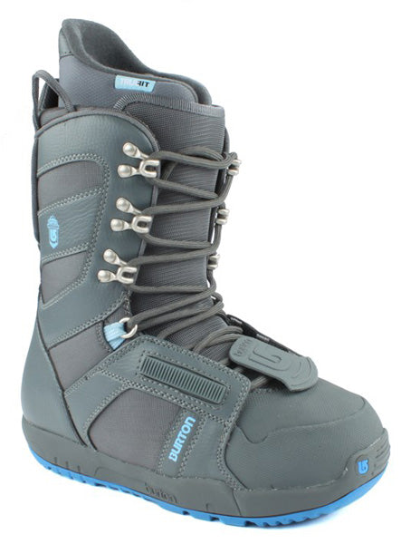 Burton Progression Dark Gray/Sky Womens Used Snowboard Boots 6