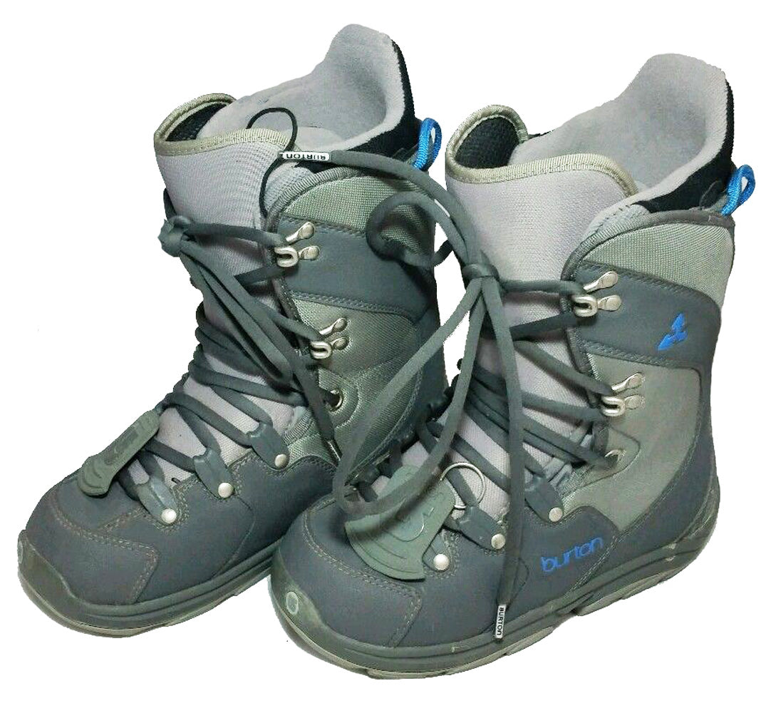 Burton Progression USED Snowboard Boots Womens 5.5= Kids 4 Gray