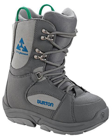 Burton Progression Kids USED Snowboard Boots Size 12 Gray