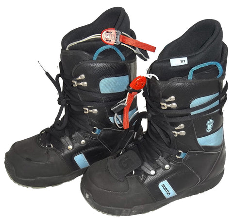 Burton Progression Black/Sky Womens Used Snowboard Boots 10