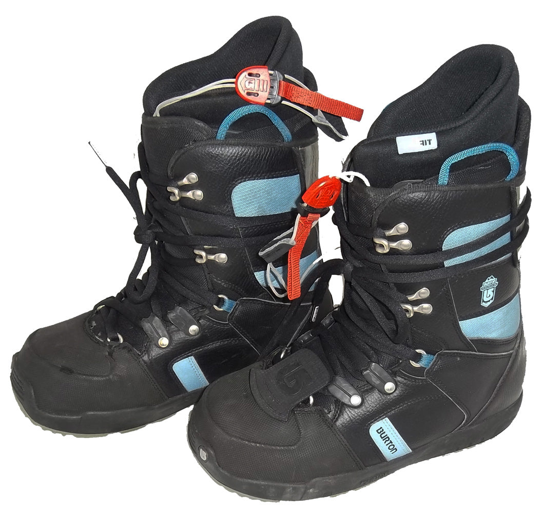 Burton Progression Black/Sky Used Snowboard Boots Womens 5.5 or Kids 4