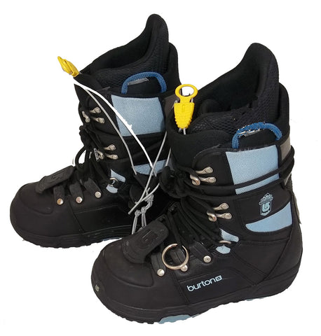 Burton Progression Black/Sky Used Snowboard Boots Womens 5 or Kids 3.5