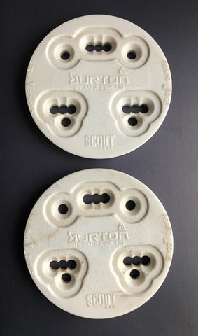 Burton Scout 3D & 4x4 4 Hole Mounting Discs WHITE Youth LAST-1