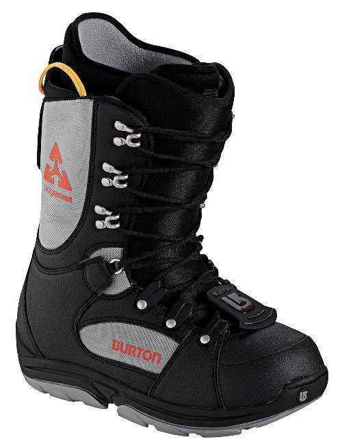 Burton Progression Black Gray Mens Used Snowboard Boots 7, 8