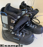 Burton Progression Black Blue Used Snowboard Boots Womens 7 Mondo 24 jb5