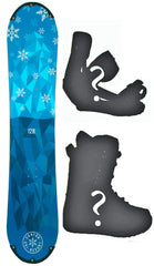 100cm Canyon Iceberg Rocker Snowboard, Build a Package with Boots and Bindings.