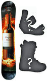 155cm Casillero del Diablo Rocker Snowboard, Build a Package with Boots and Bindings.