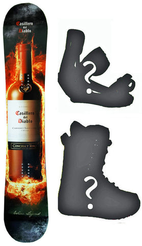 155cm Casillero del Diablo Camber Snowboard, Build a Package with Boots and Bindings.