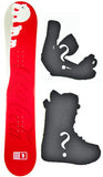 150cm Coca-Cola Artic Rocker Snowboard, Build a Package with Boots and Bindings.
