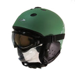 CP Blow Helmet and Goggles Combo Package Snowboard Ski Helmet Green Black 2nd SwissBrand