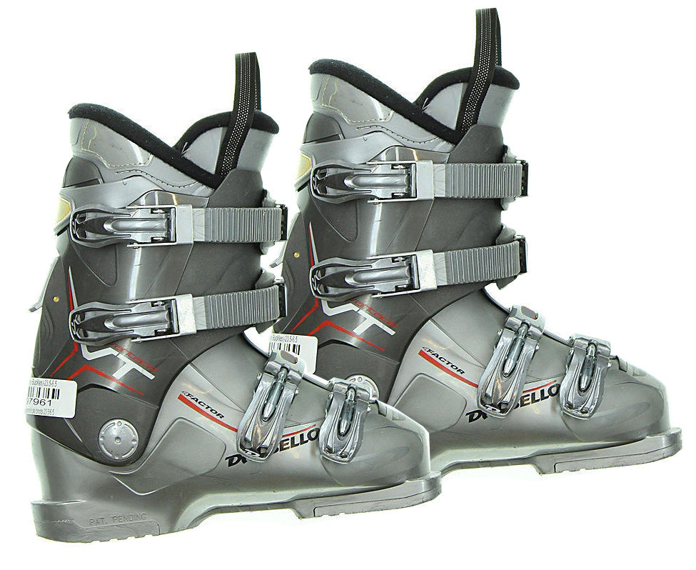 Dalbello Vantage VT LTD Factor Ski Skiing Boots Grey Red Used 25.5 Men 7.5 Women 8.5