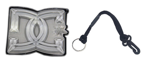 Dc Stomp Pad & Leash Snowboard Package Boot Scrapper / Keyring Strap 2Pc