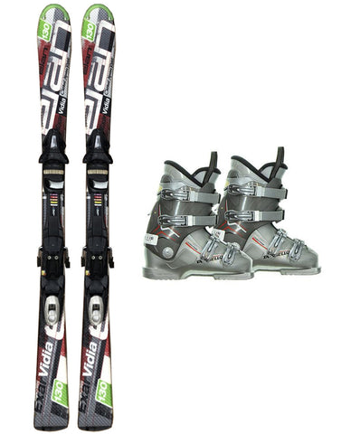130cm Elan Vidia Exar Skis & Tyrolia ESP SP 10 Bindings & Dalbello Boots Used rtl Package
