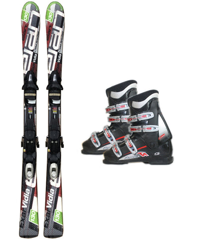 130cm Elan Vidia Exar Skis & Tyrolia SP 10 Bindings & Nordica B Macro Boots Used Package