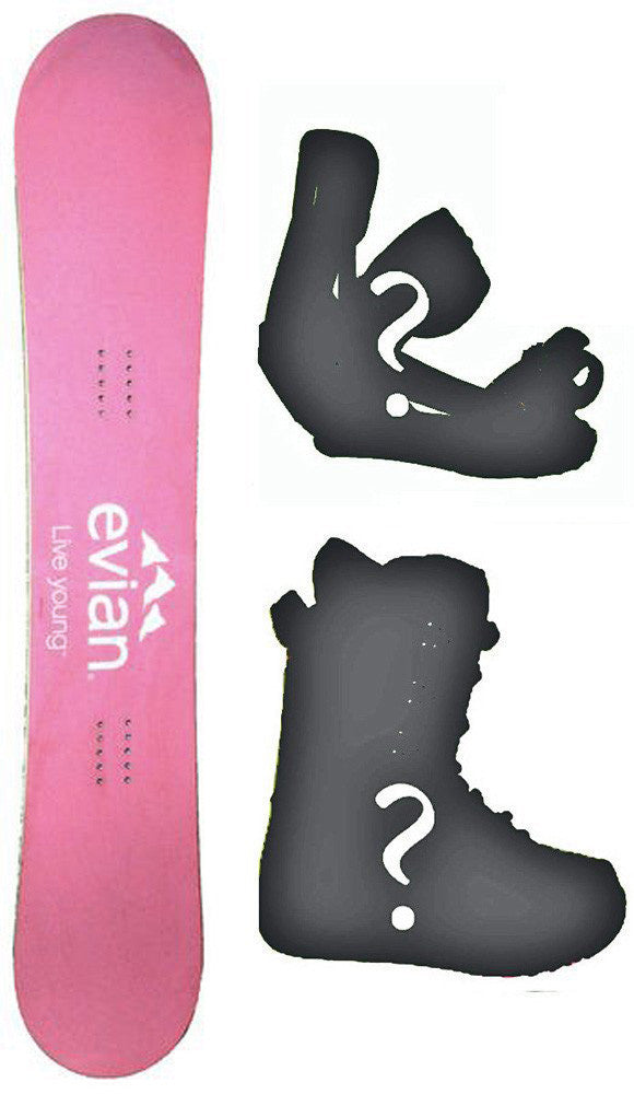 149cm Evian Rocker Snowboard, Build a Package with Boots and Bindings.