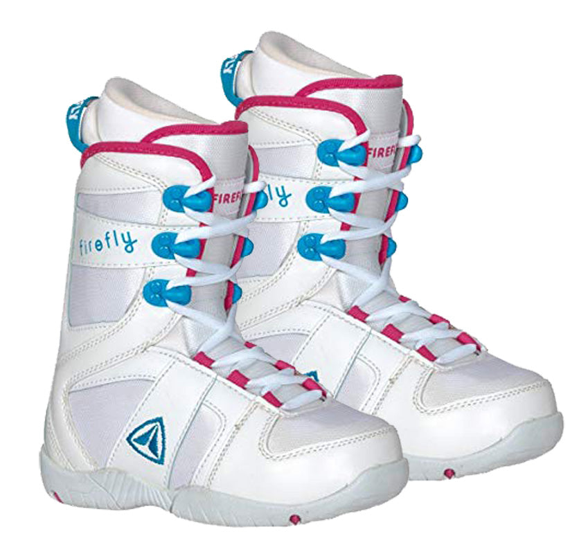 Firefly Snowboard Boots C-32 White Blue Pink Kids Girls 2,2.5,3.5,4.5
