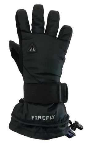 Firefly Mail Black-Blue Snowboard Gloves w/ built in Wrist Guards