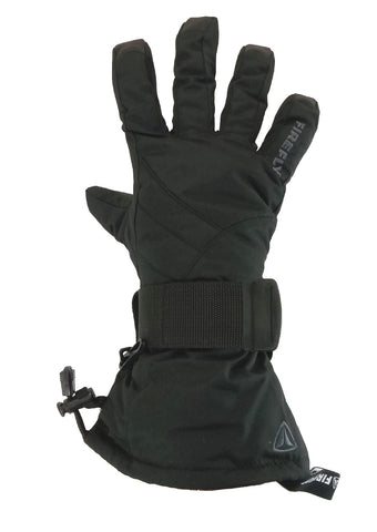 Firefly Ritan Black Snowboard Gloves w/ built in Wrist Guards.