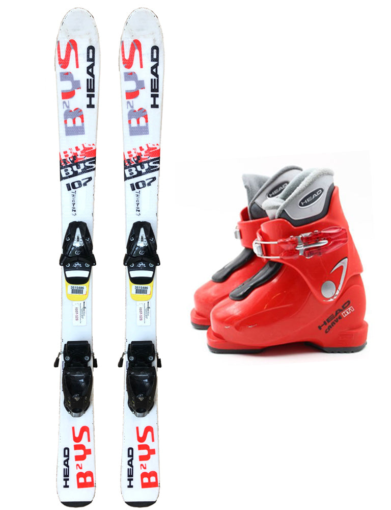 Head Carve HT1 Youth Ski Boots Size 12.5 Mondo 18.5 Used