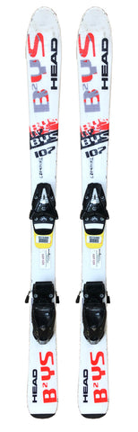 107cm Head BYS Skis And 4.5 Din Bindings Used Kids Youth Package