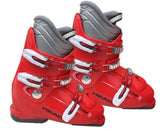 Head Edge J-3 Ski Skiing Red White Gray Boots Mondo 23.5 Youth 5.5 or Women 6.5 Used