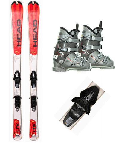 140cm Head Star Link Skis & Tyrolia YELL BYS 10 Bindings & Dalbello Boots 8-11 Used Package