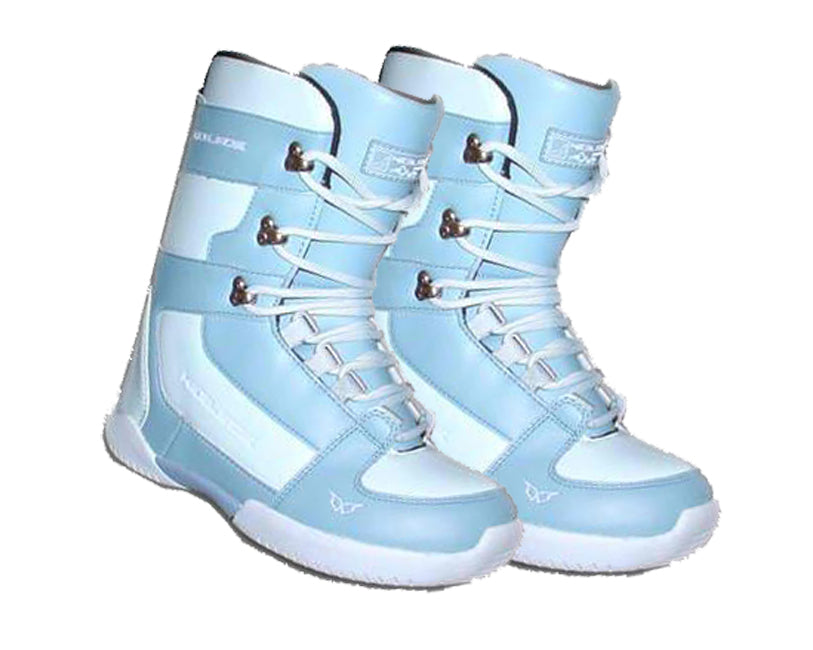 Heelside Launch Womens Lace Snowboard Boots Size 7 Blue 24.6cm