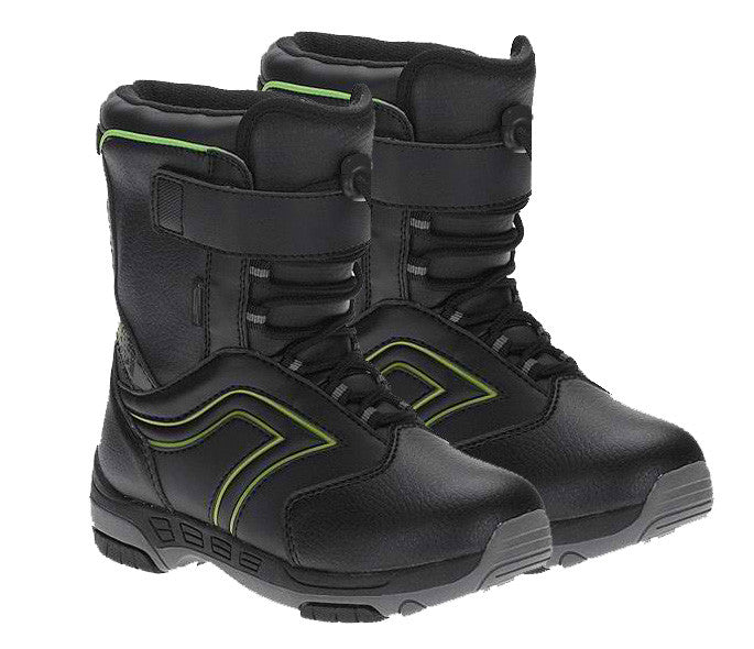 Symbolic Grom Kids Velcro Rapid-Lace Snowboard Boots Size c12 c13 1 2 3 Black White