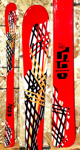 130cm 365 threesixtyfive hydro parabolic kids skis 2nds