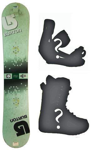 145cm Burton LTR - Grid  USED Snowboard, Build a Package with Boots and Bindings