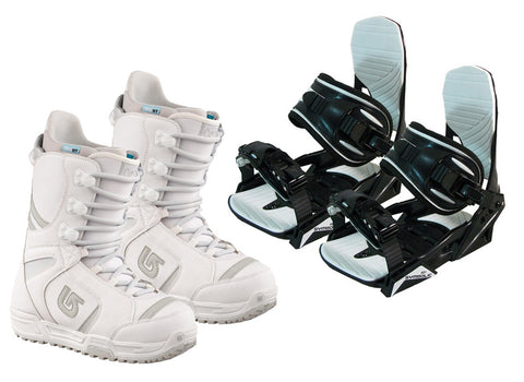 Burton Coco Snowboard Boots & Symbolic Bindings Package Deal Womens 7 8 9 10
