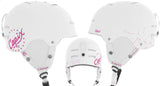 Capix Destroyer Womens Snowboard Helmet Small Medium White Pink