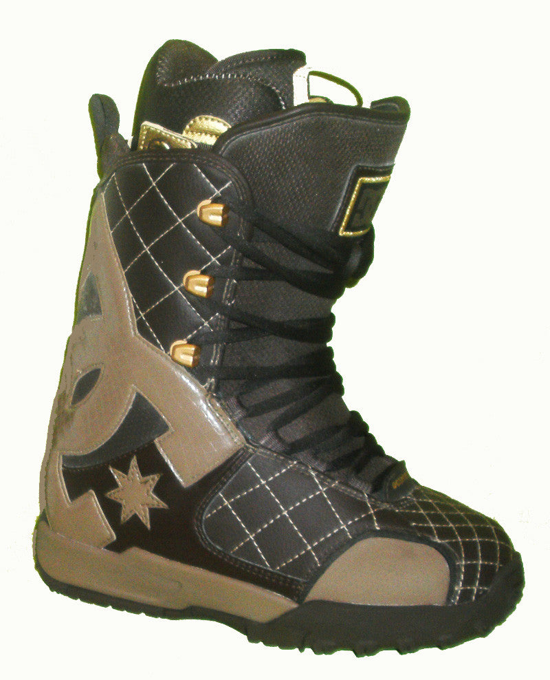 DC Graphix-Lace Lace Snowboard Boots Mens Size 5 equals Womens 6.5 Dark-Brown equals Kids-5-5.5