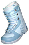Heelside Finnesse Womens Lace  Snowboard Boots Size 6 Blue equals Kids-4.5-5