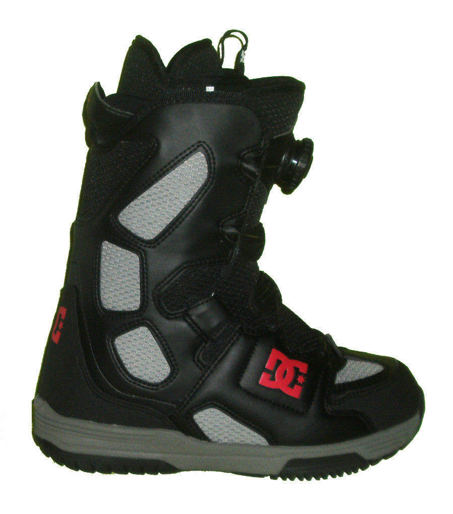DC Scout Boa Snowboard Boots Mens Size 5 equals Womens 6.5 Black-Shark equals Kids-5-5.5