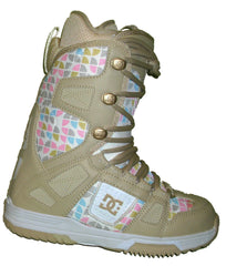 DC Phase Womens Lace Basic-Liner Snowboard Boots Size 5 White-Sand equals Kids-4-4.5