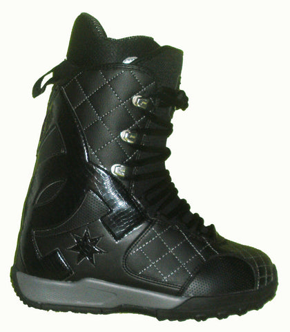 DC Graphix-Lace Lace Snowboard Boots Mens Size 5 equals Womens 6.5 Black equals Kids-5-5.5