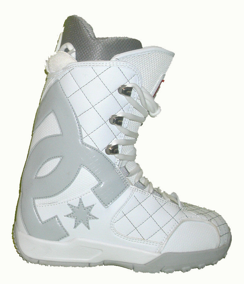 DC Graphix-Lace Lace Snowboard Boots Mens Size 5 equals Womens 6.5 White equals Kids-5-5.5