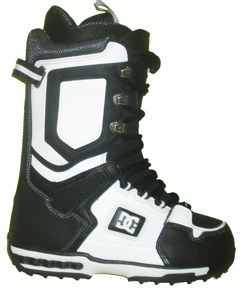 DC Balance Lace Snowboard Boots Mens Size 5 equals Womens 6.5 Black-White equals Kids-5-5.5