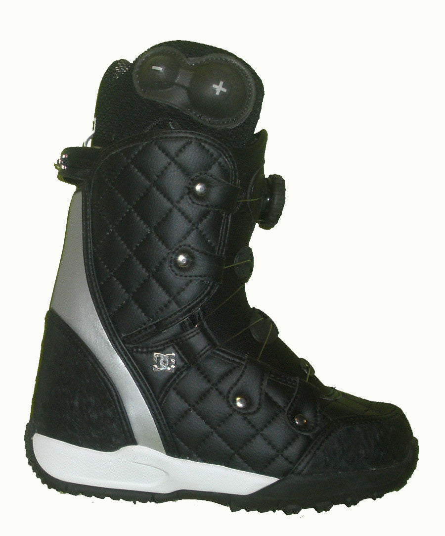 DC Judge Womens Boa Bravo-Liner Snowboard Boots Size 5 Black equals Kids-4-4.5