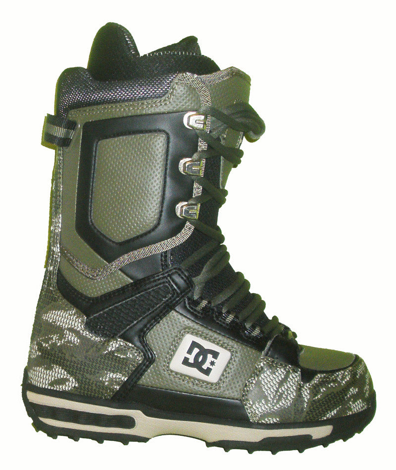 DC Balance Lace Snowboard Boots Mens Size 5 equals Womens 6.5 Green equals Kids-5-5.5