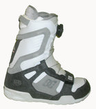 DC Super-Park Boa Snowboard Boots Mens Size 5 equals Womens 6.5 White equals Kids-5-5.5