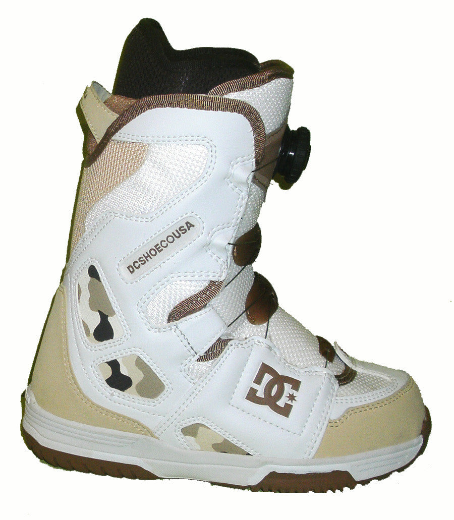 DC Scout Womens Boa Stock-Liner Snowboard Boots Size 5 White equals Kids-4-4.5