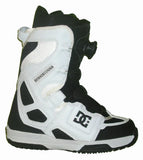 DC Scout Boa Snowboard Boots Mens Size 5 equals Womens 6.5 White-Black equals Kids-5-5.5