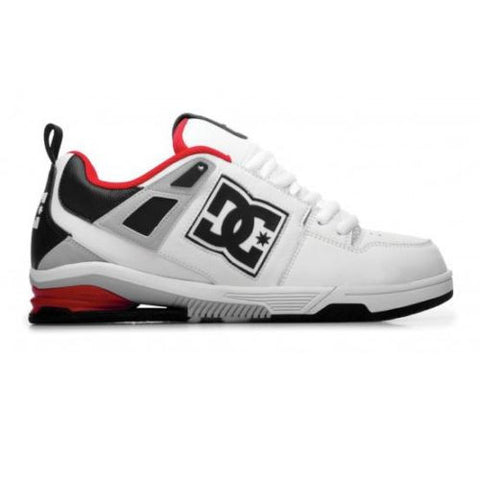 DC Men's Impact RS White Black Armor Skate Shoe Mens 8.5